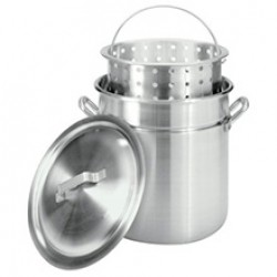 80 qt pot w/ strainer